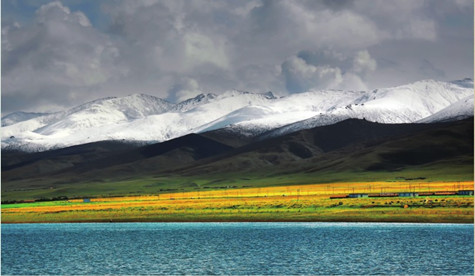 那是位于海北藏族自治州刚察县泉吉乡附近一处湖边,根据南加多年的