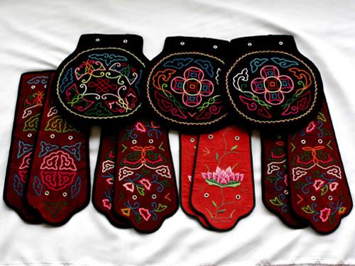 蒙古族服饰刺绣纹样无不包含人们对美好生活的愿望,这种象征性的手法